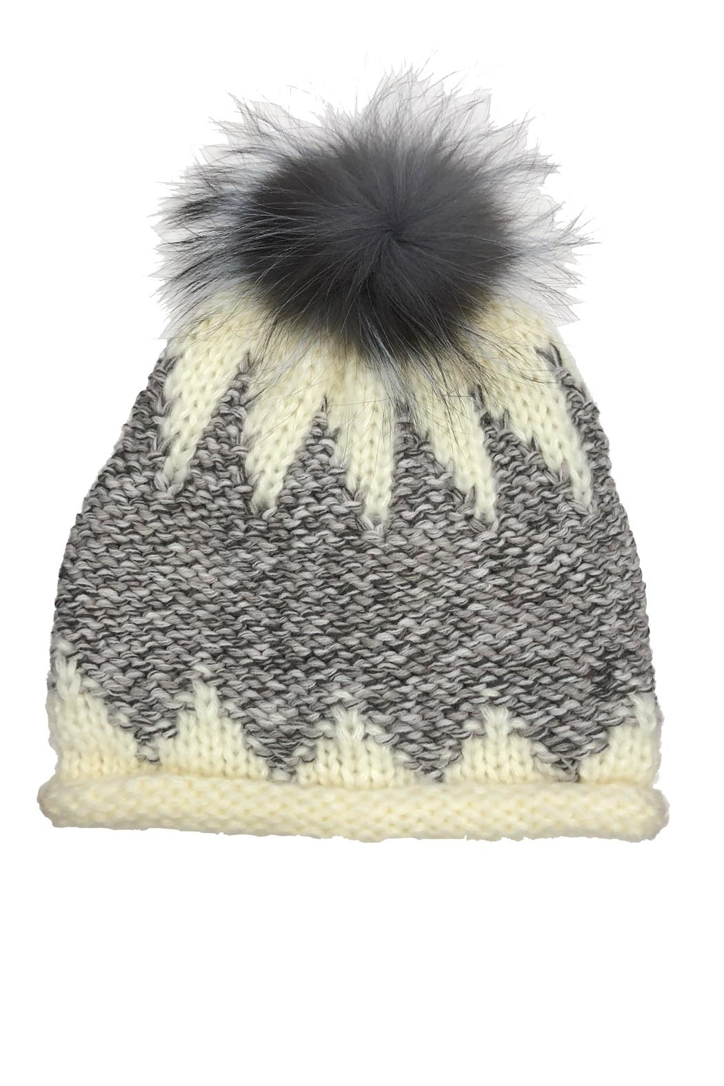 Adrienne Zigzag Pom Hat - Front Cropped Image