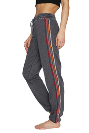 Betsey Johnson Zigzag Stripe Boyfriend Sweatpant - Product Mini Image