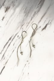 By Philippe Zigzag Threader Earrings Sterling Silver - Product Mini Image