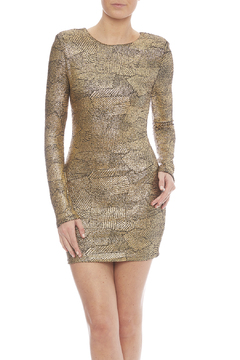 Zio Faux Snakeskin Print Dress - Product List Image