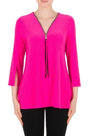 Joseph Ribkoff Zip 3/4 Slv Tunic - Product Mini Image