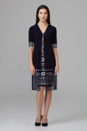Joseph Ribkoff Zip Detail Dress - Front full body
