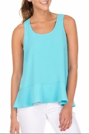 Joy Joy Zip Flounced Top - Product Mini Image