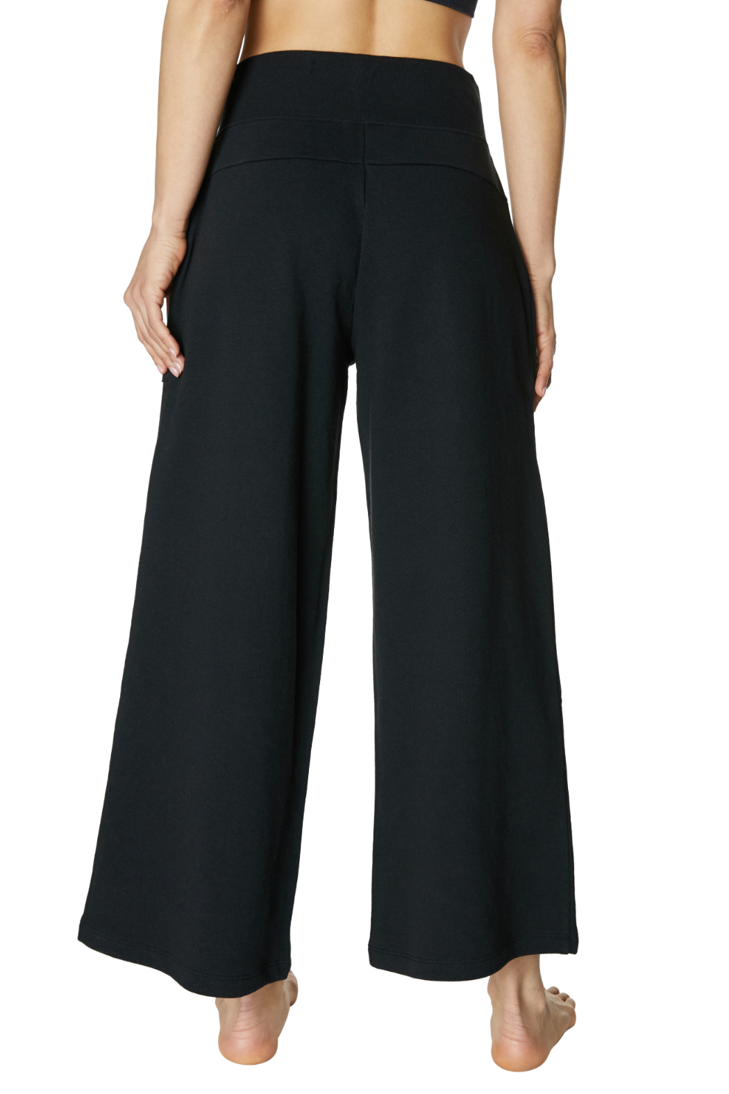 Betsey Johnson Zip Front Hi Waisted Crop Sweatpant - Side Cropped Image