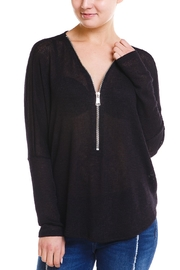 Jolie Zip  Front Sweater - Product Mini Image