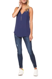 Dex Zip Front Tank - Front cropped