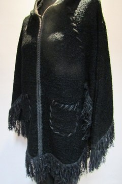 Shoptiques Product: Zip Hooded Poncho