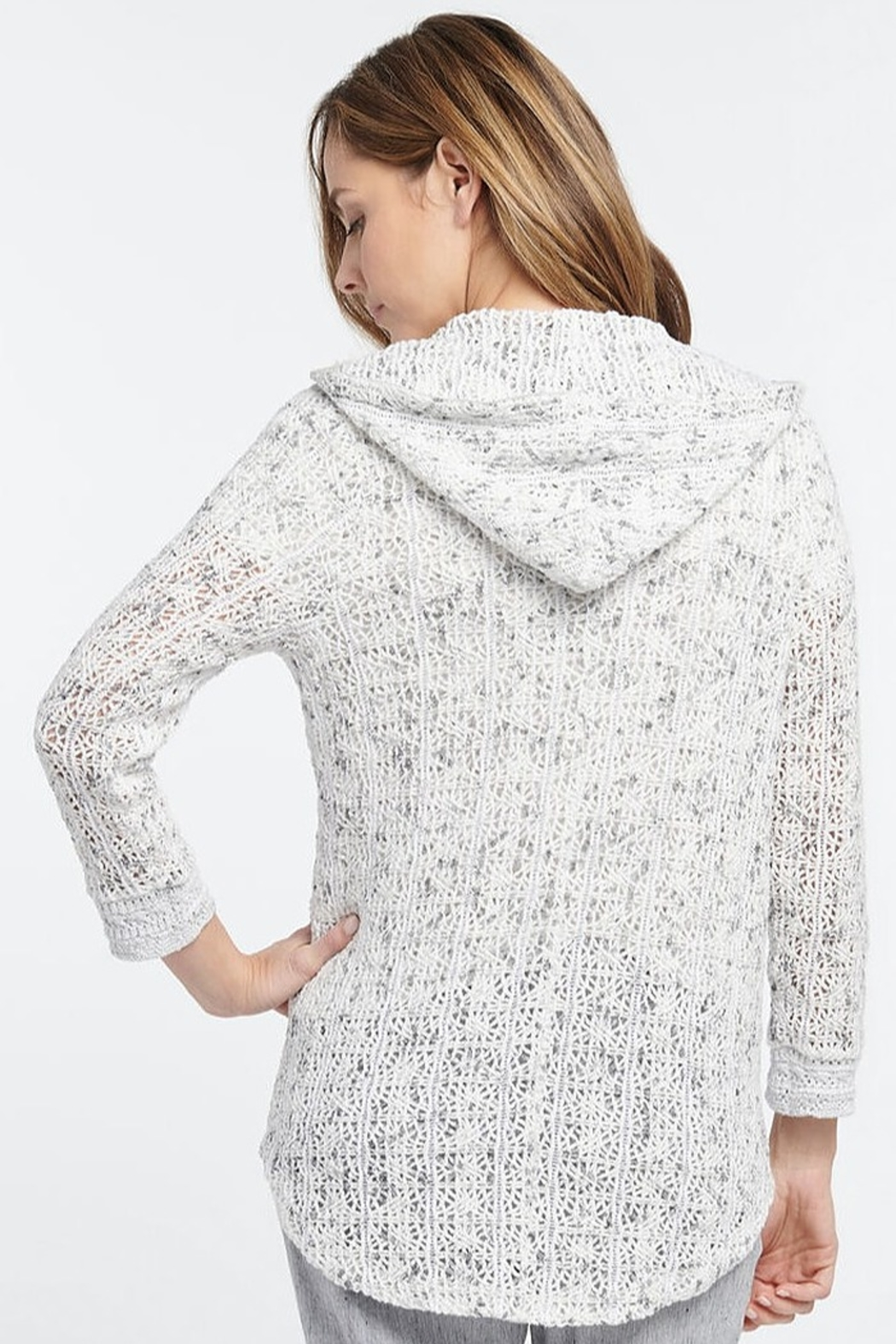 Nic + Zoe Zip Hoodie with pockets - Front Full Image