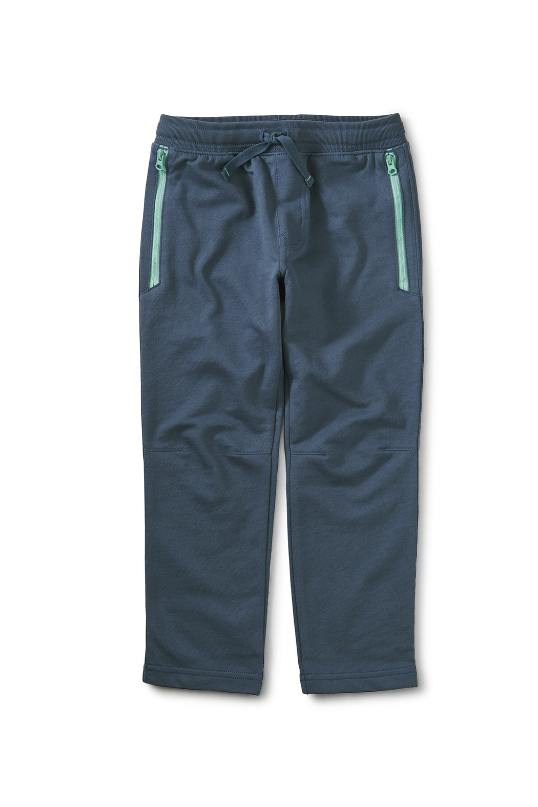 Tea Collection Zip Pocket Joggers - Copen Blue - Front Cropped Image