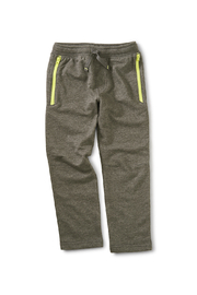 Tea Collection Zip Pocket Joggers - Charcoal Heather Grey - Front cropped