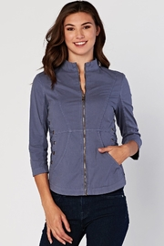 XCVI Wearables Zip Poplin Jacket - Product Mini Image