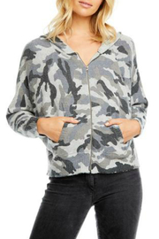 Chaser Zip Up Camo Dolman Hoodie - Product Mini Image