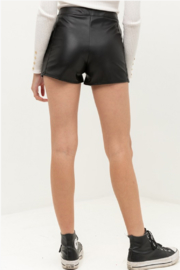 Love Tree Zip Up Faux Leather Shorts - Product Mini Image