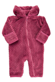 Minymo Zip-up Fuzzy Bunting - Front cropped