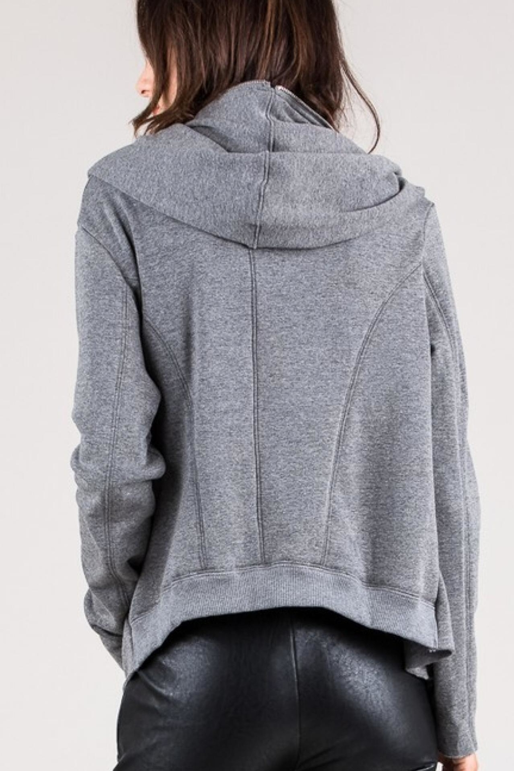 Salt Zip Up Hoodie - Back Cropped Image