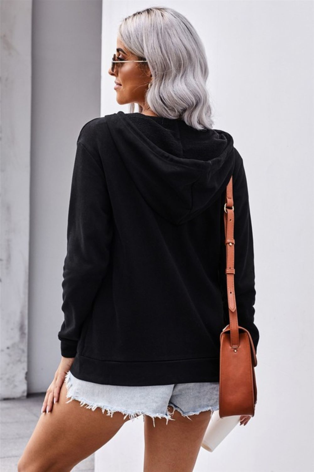 Shewin Zip Up Hoodie - Side Cropped Image