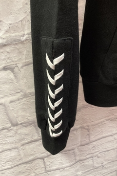 Reflex Zip up hoodie with lace-up detail on sleeve - Alternate List Image