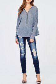Jolie Zip Up Sweater - Product Mini Image