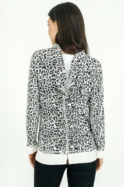 Six Fifty Zipper Back White Leopard Hacci Hoodie - Front full body