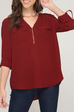 LuLu's Boutique Zipper Blouse - Product List Image