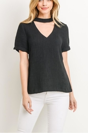 Gilli Zipper Choker Tee - Product Mini Image