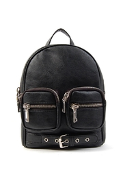 OMG! Accessories Zipper Detail Backpack - Front cropped
