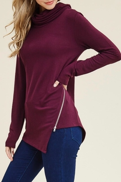 LuLu's Boutique Zipper Knit Tunic - Product List Image