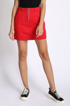 Shoptiques Product: Zipper Mini Skirt