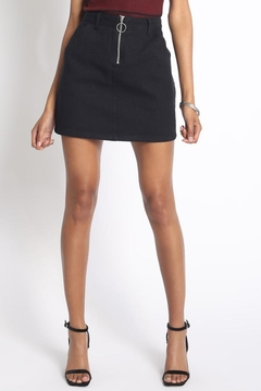 Sans Souci Zipper Mini Skirt - Product List Image