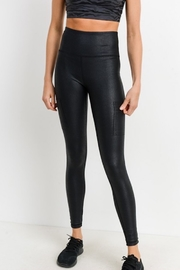 Mono B Zipper Pocket Highwaist Foil Legging - Product Mini Image
