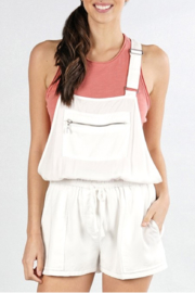Lovestitch Zipper Pocket Overalls - Front cropped