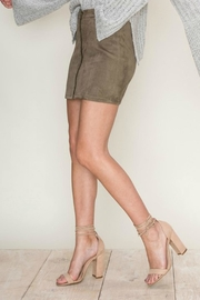 Pretty Little Things Zipper Suede Skirt - Product Mini Image