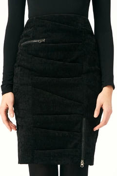 Nicole Miller Zipper Tucked Skirt - Alternate List Image