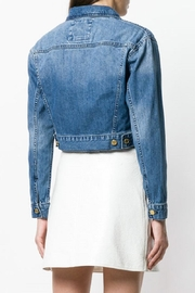 Michael Kors Zippered-Cropped Denim Jacket - Side cropped