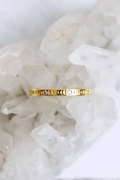 Shoptiques Product: Zircon Moon Phase Ring