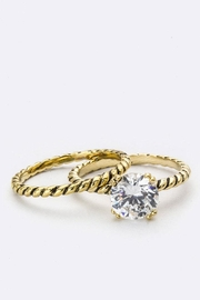 Nadya's Closet Zirconia Double Ring - Side cropped