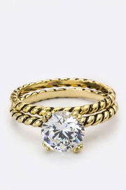 Nadya's Closet Zirconia Double Ring - Front cropped