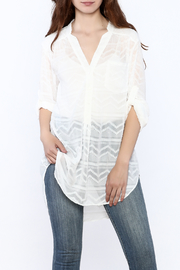 Zoa Aztec Button Down Top - Product Mini Image
