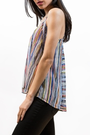 Zoa Bold Striped Top - Front full body