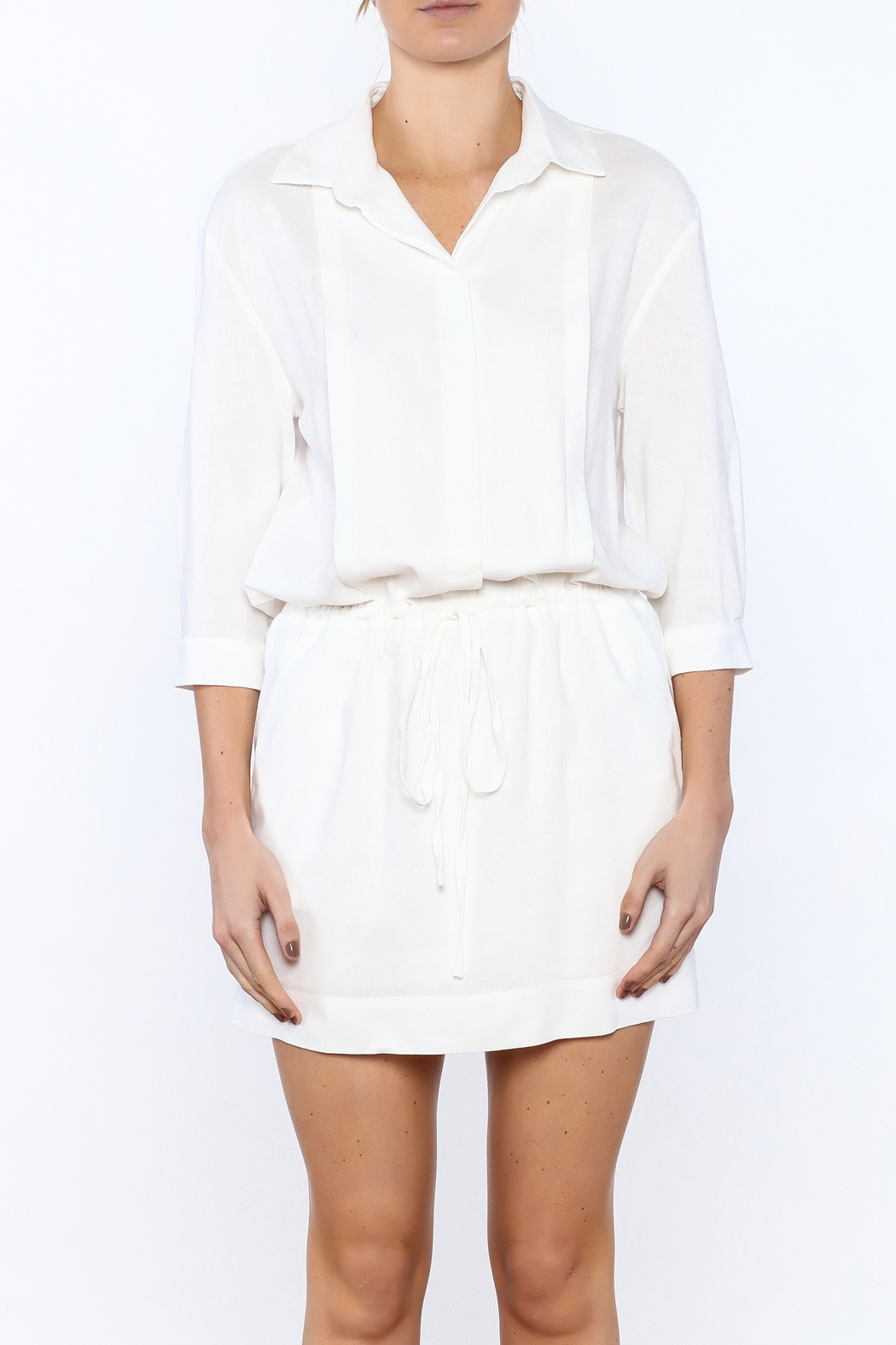 Zoa White Sheath Dress - Side Cropped Image