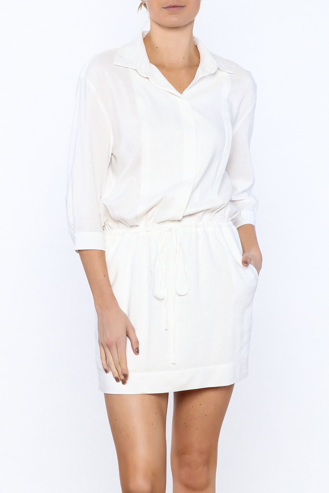 Zoa White Sheath Dress - Main Image