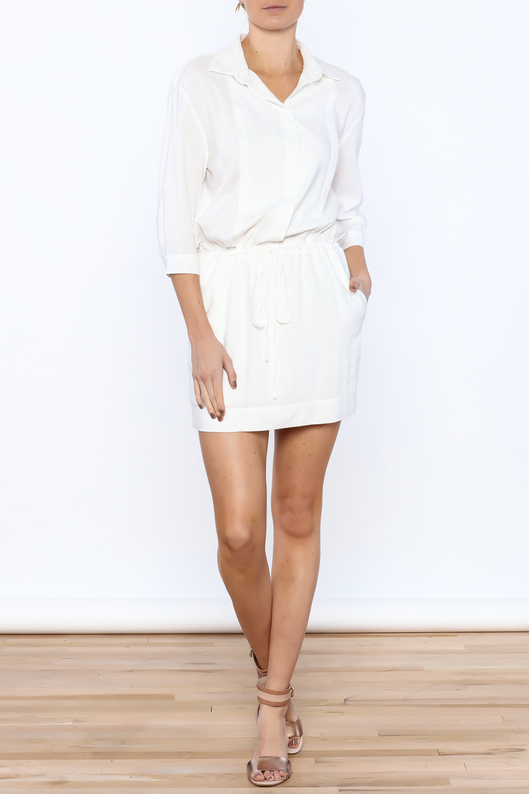 Zoa White Sheath Dress - Front Full Image