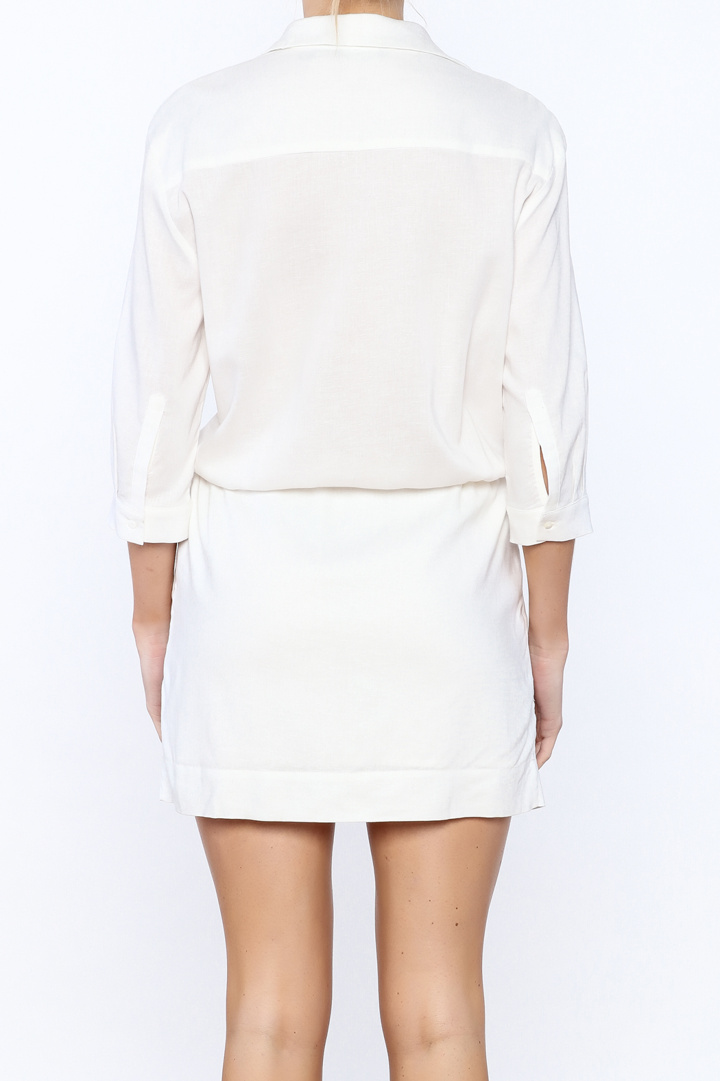 Zoa White Sheath Dress - Back Cropped Image