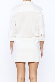 Zoa White Sheath Dress - Back cropped