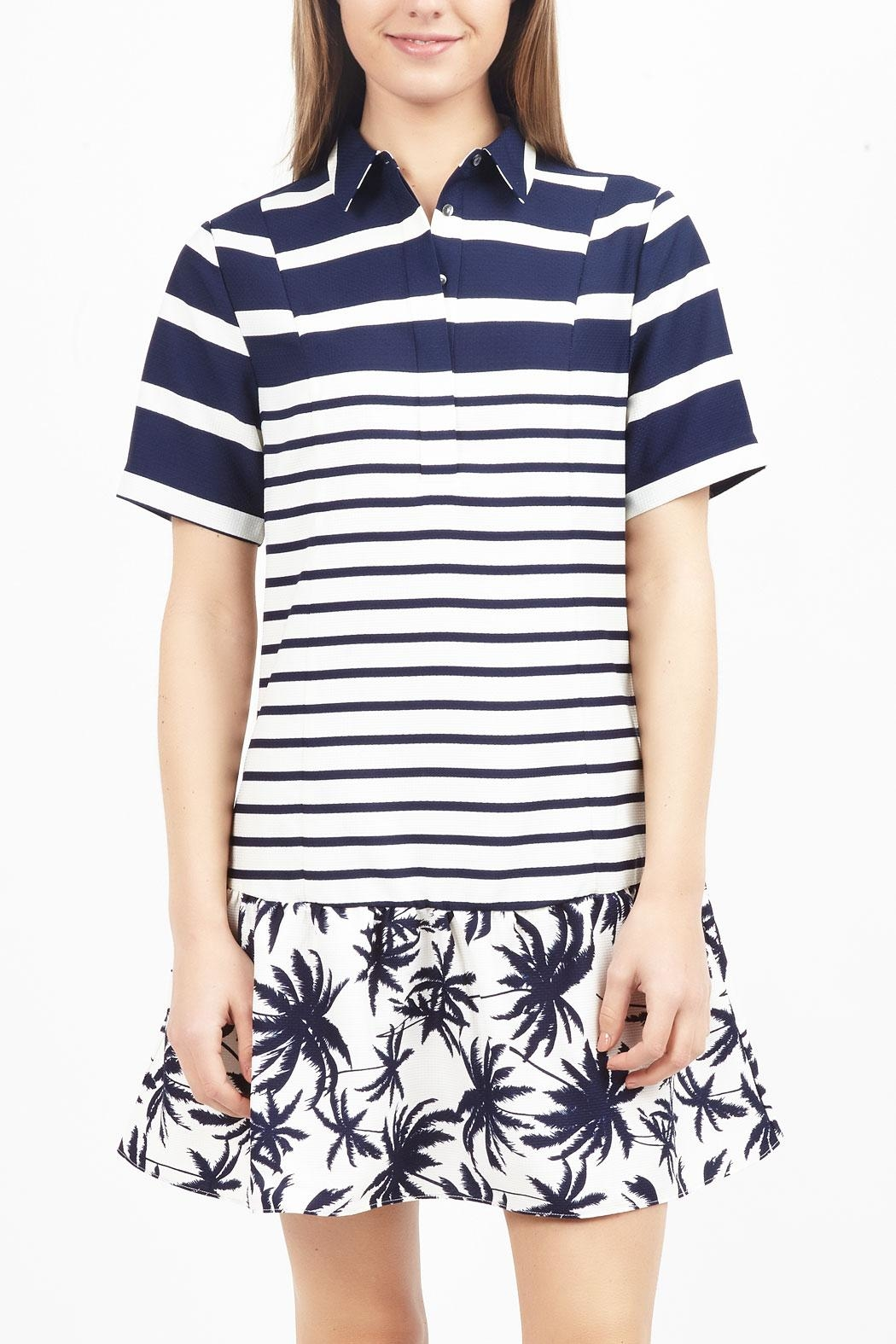 Zoa Collared Print Dress - Main Image