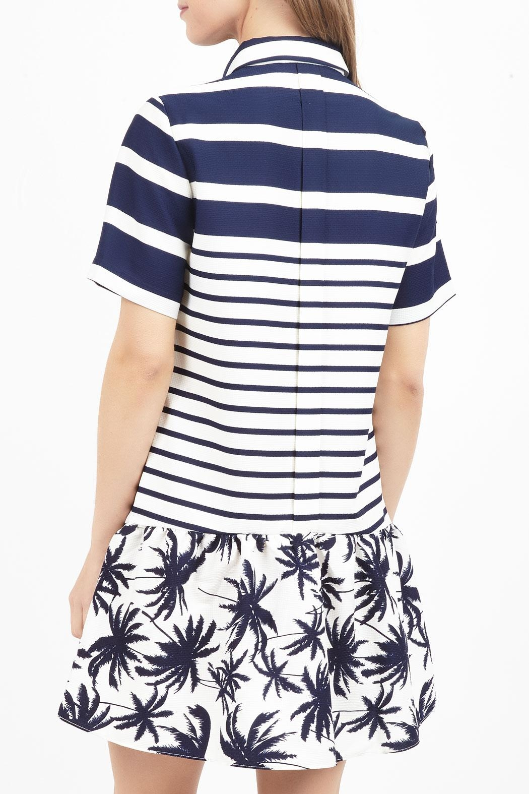 Zoa Collared Print Dress - Front Full Image
