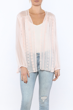 Shoptiques Product: Sheer Pink Cardigan