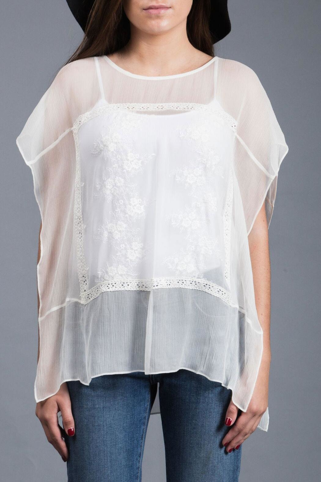 Zoa Embroidered Silk Top - Main Image