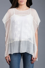 Zoa Embroidered Silk Top - Product Mini Image