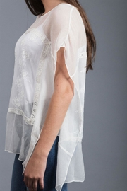 Zoa Embroidered Silk Top - Front full body